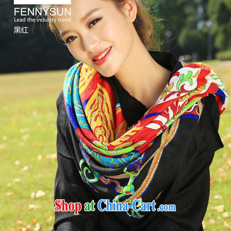 Wind is still cotton scarf belt take up shawl both women and men in autumn and winter warm scarf scarf shawl large and black and red