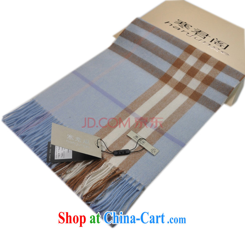 2015 new gift boxed classic tartan retro 100 ground Cashmere scarf winter thick scarves warm shawls two men and women with the grid, gray