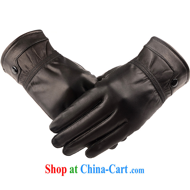 JANEPION/Jane a good, autumn and winter, the men's warm and lint-free cloth fur leather gloves men's black bend deduction, JANEPION, shopping on the Internet