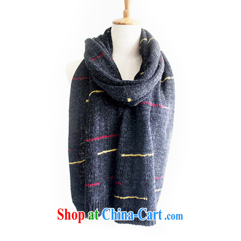 2014 autumn and winter, the boys and girls couples, wool scarf double-sided thick warm the long scarf foreign trade, 808 black are code