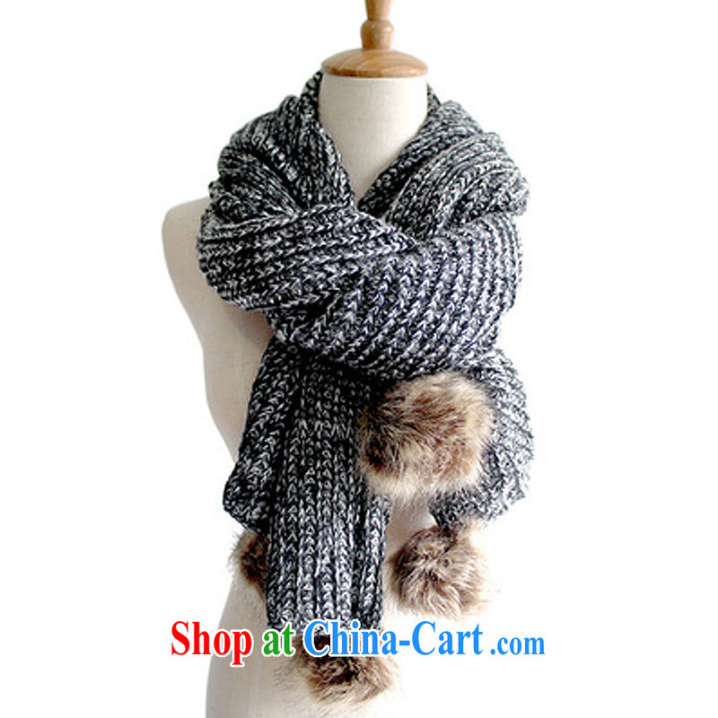 2014 fall and winter new Korean knitting two ultra-long thick warm ball ball scarf-men and women students for couples, the foreign trade by 791 gray are code