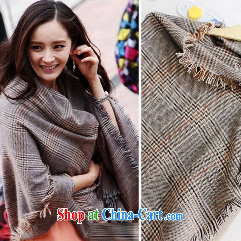 Susan Sarandon aviation 2014 autumn and winter new Korean large shawl 1000 birds, cotton scarves for men and women, knitting scarf brown
