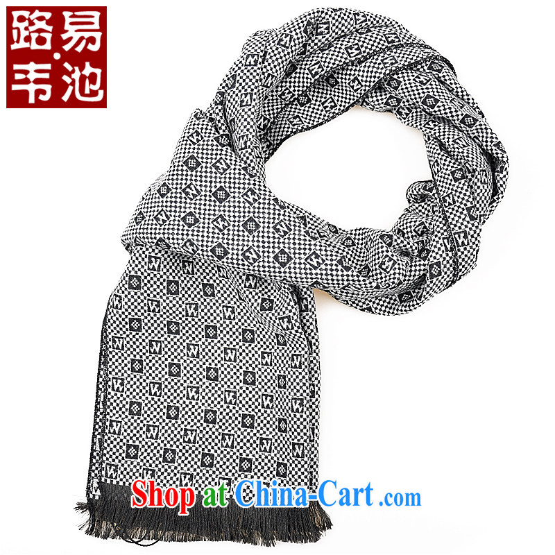 Louis Weston pool accessories men's scarves in winter, warm scarf and scarf Korean black-and-white, that is the scarf scarf F - 21 white