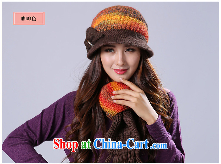 M: Diana, mother winter hat scarf two-piece warm wool older elderly hat scarf Kit scarf, brown pictures, price, brand platters! Elections are good character, the national distribution, so why buy now enjoy more preferential! Health