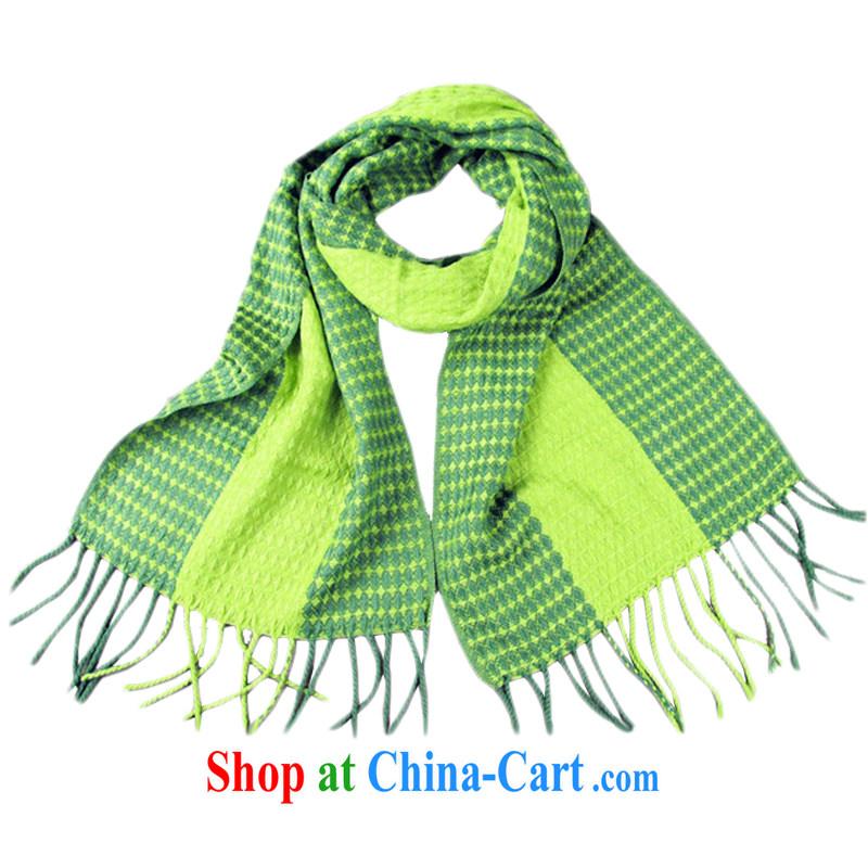 Hung-chun emulation cashmere two-color tile flow, scarves elegant classic tartan scarf Korean autumn and winter men and women honeydew 170 _ 30 CM
