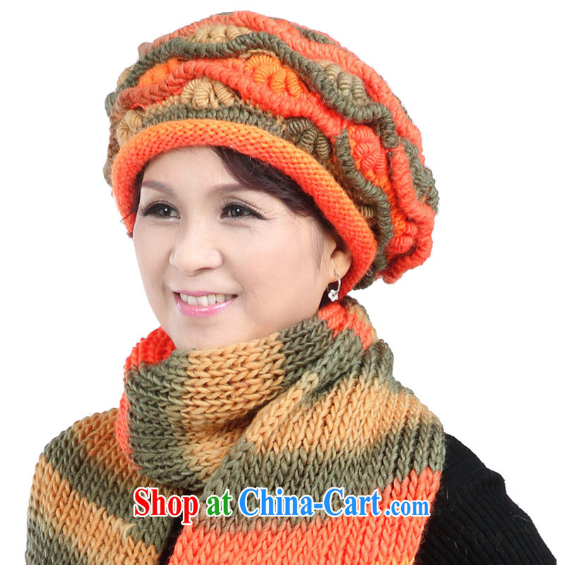 hat girl in winter old hat girl lady wool hat scarf two kits, autumn and winter MOM knitting old hat scarf Kit 7 color are code, CAPKING, shopping on the Internet