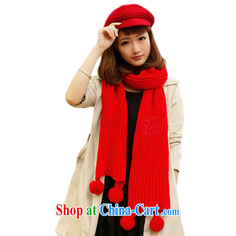 Hung-chun Korea Korean autumn and winter winter scarves, men's scarf knitting scarf warm scarf new outdoor red 200 _ 30 CM
