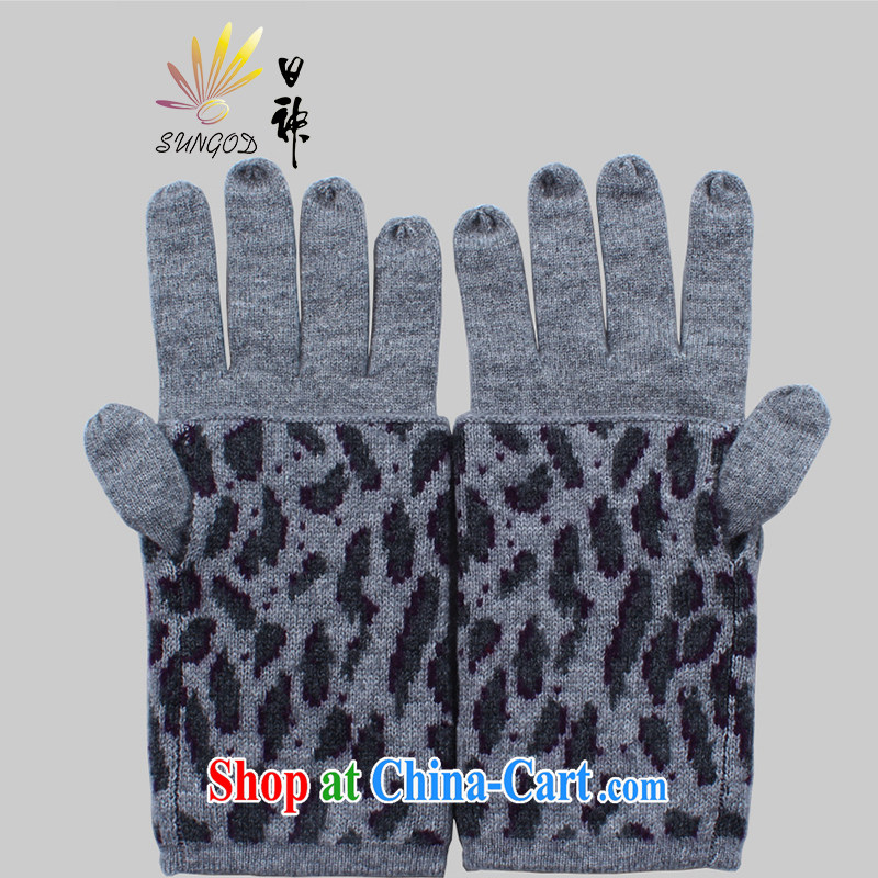 God, 2014 fall and winter new cashmere gloves, warm cashmere refer gloves Z 212,623 new, gray