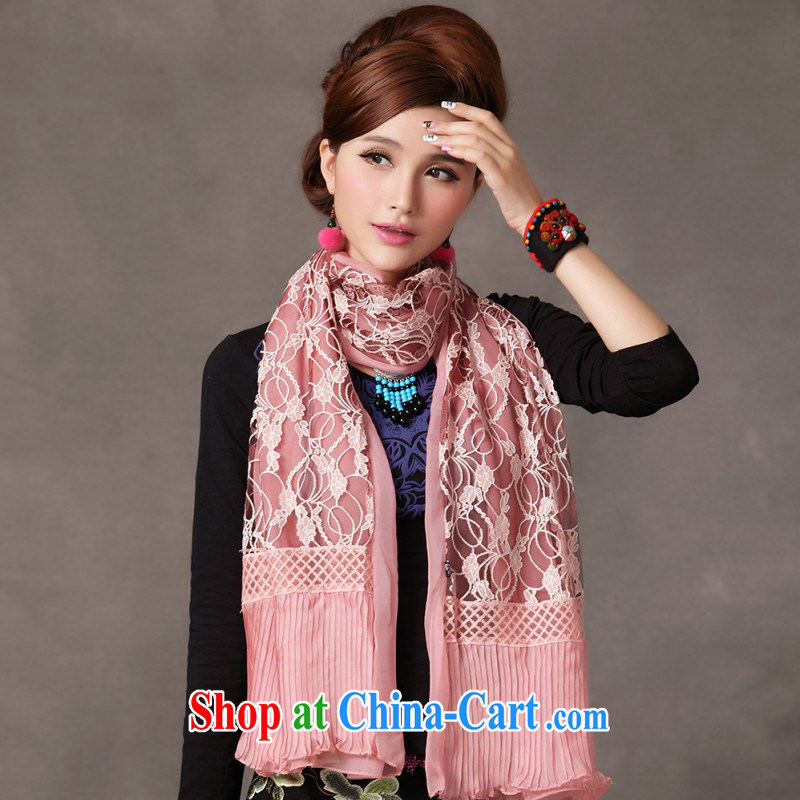 Cool self-2014 autumn and winter long scarves 100 ground and stylish appearance, warm scarf Pink Pink