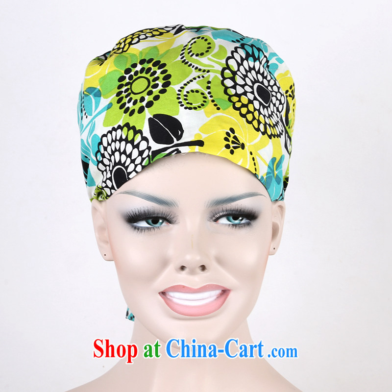 Cotton surgical cap in Europe and America, stamp duty sub-cap home cap dust cap food outdoor scarf riding pure cotton sunflower and nurses