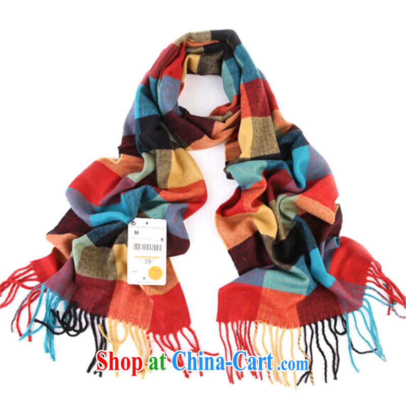 Hung-chun autumn and winter scarf children wind and cold warm classic Korean English grid emulation cashmere parent-child scarf 10 color 31 cm - 167 CM, Hung-chun, and shopping on the Internet