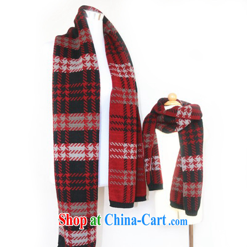 Hung-chun 2014 fall and winter parent-child with Japan and South Korea, British men and women couples Knitted Scarf 1000 birds, scarf parent-child 2 piece black spell wine red