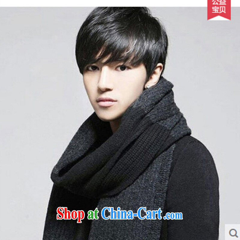 Na Sa-ki Korea edition 2014 new autumn and winter thick warm knitting scarf girl trendy ultra-long men's scarves 219 - W 98 black and gray are code