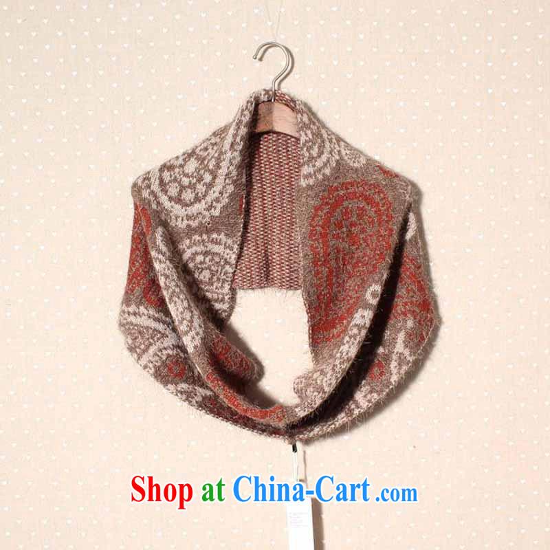 Dan Jie Shi DAjshi British men the mohair wool warm scarf fall and winter leisure cashew flower scarf 1943 - WJ 04 chocolate other