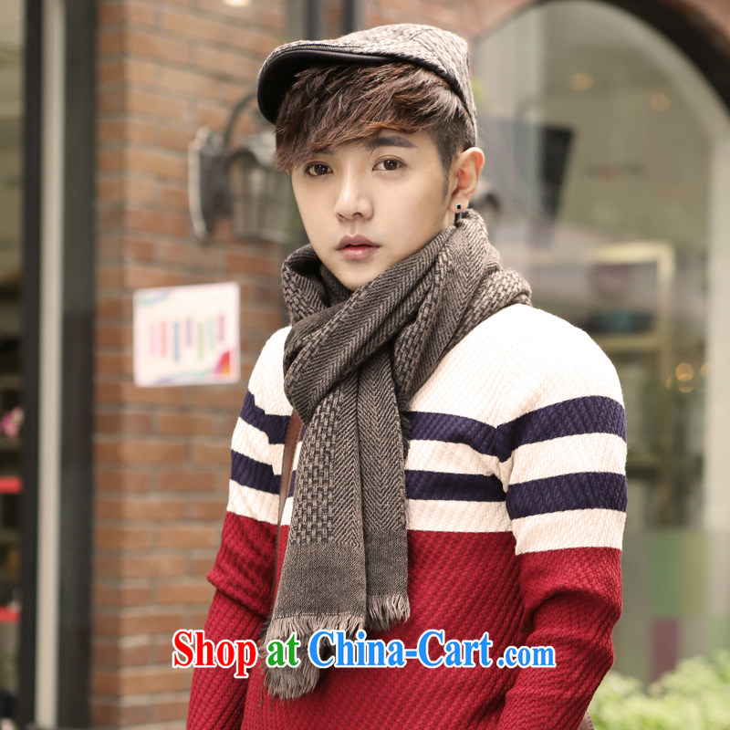 Susan Sarandon aviation jiaoshan 2014 winter clothes new, Korean men and women general couples leisure knit jacquard scarf W 168 light gray