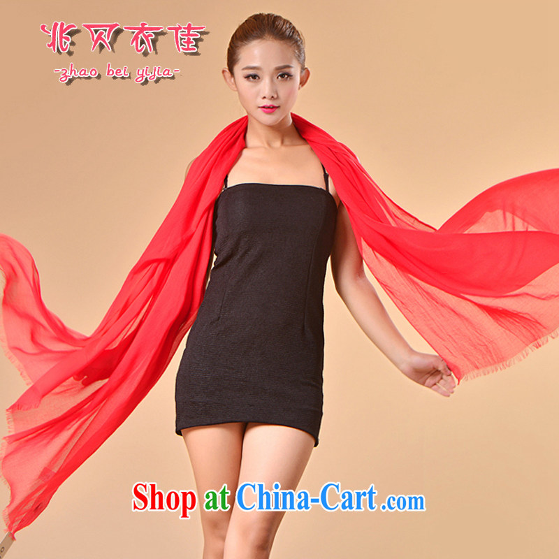 Siu Pui Yi better new, scarves, ultra-thin solid-colored silk scarf wool scarf shawl thin shawl sauna silk holiday gift wrappers are Code Red