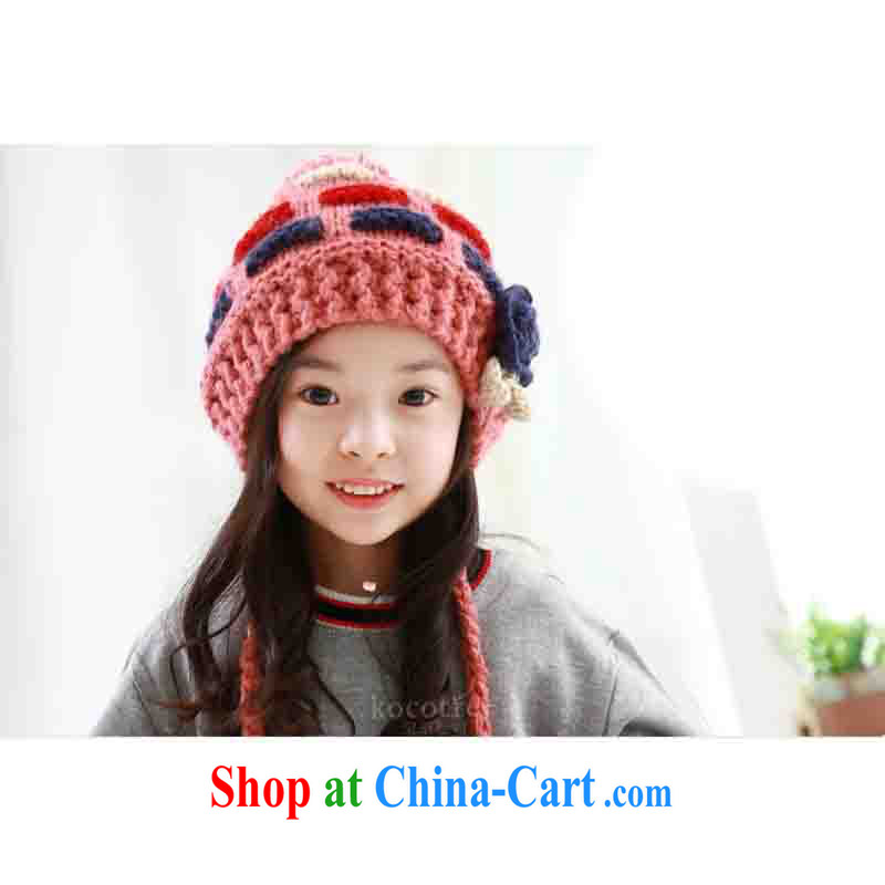 Winter Korean girls warm-cap hand knit child beanies twist pigtail girls hat girls hat package containing cyan recommendations 2 - 10 years of age, retrogressive (NIXING), and, on-line shopping