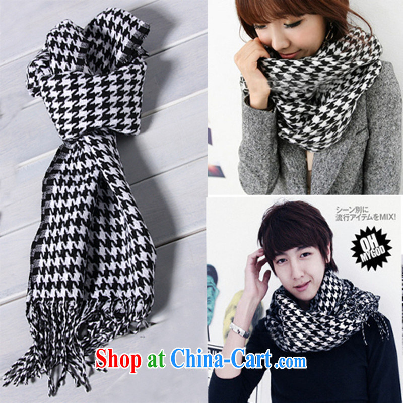 2014 fall and winter the latest couples, scarves 1000 birds, stylish 100 men and women on general-purpose warm scarf black-and-white.