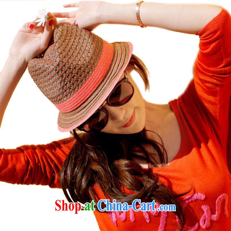 Hung-chun stylish Miami's bow cap new summer, Sun bonnet red
