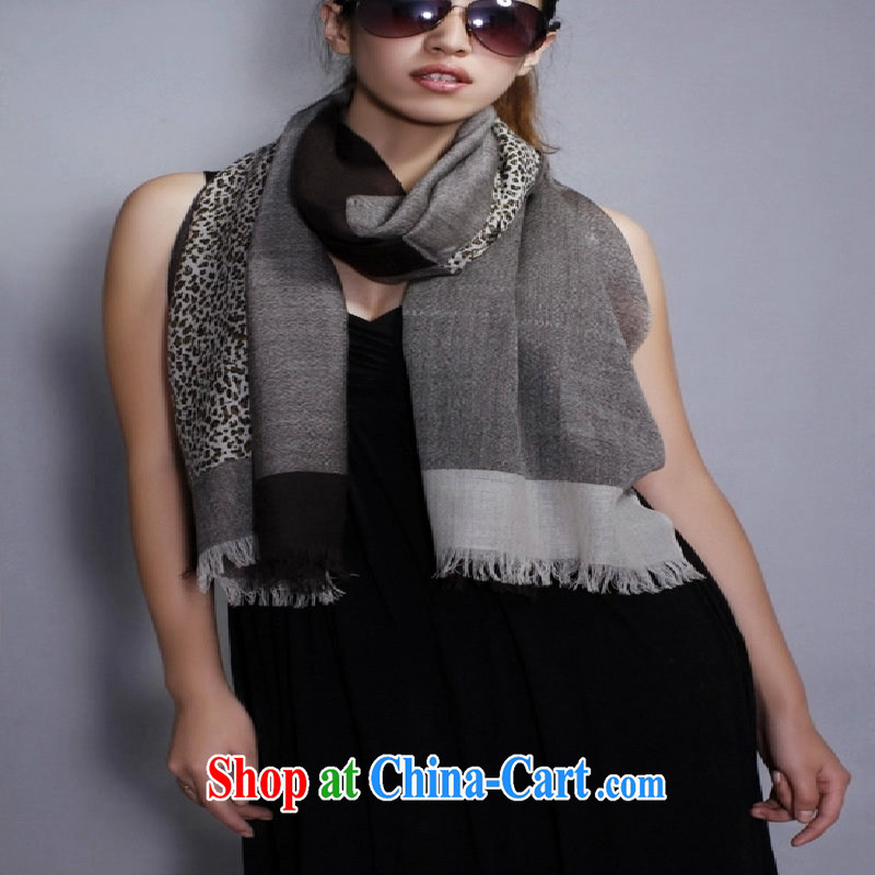 Phuket, cashmere, genuine classic Leopard spell color Korean autumn and winter female wool scarf shawl two use special