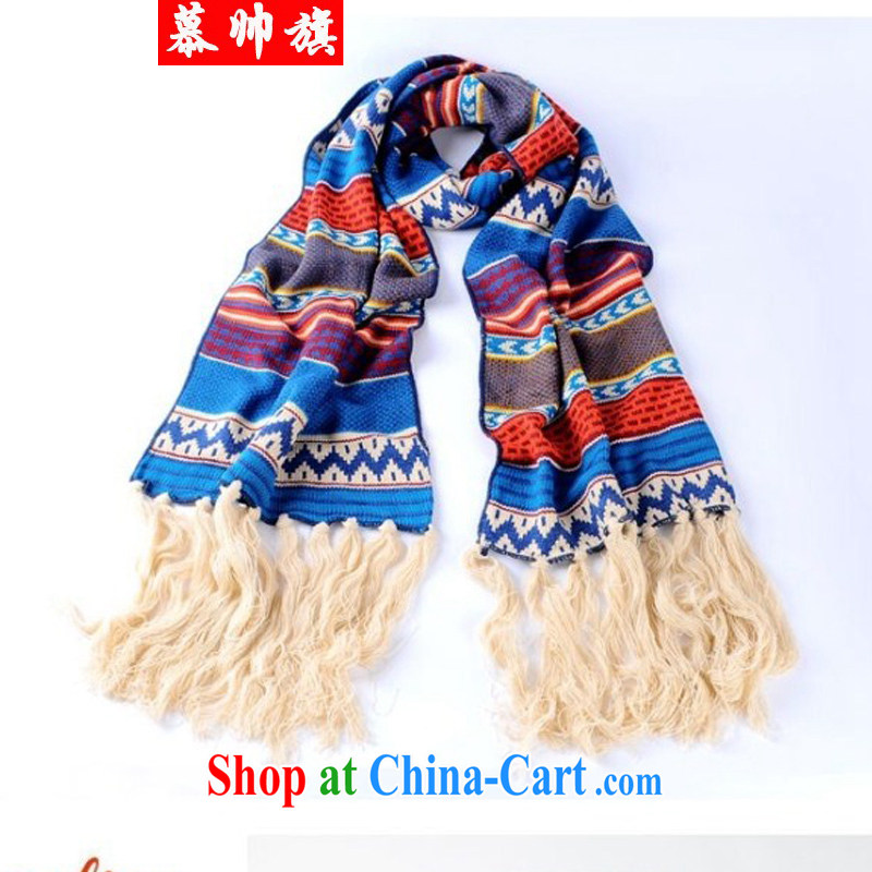 Bohemian Ethnic Wind scarf, long thick stream comb knitting knitting scarf personalized scarves W 8011 photo color code