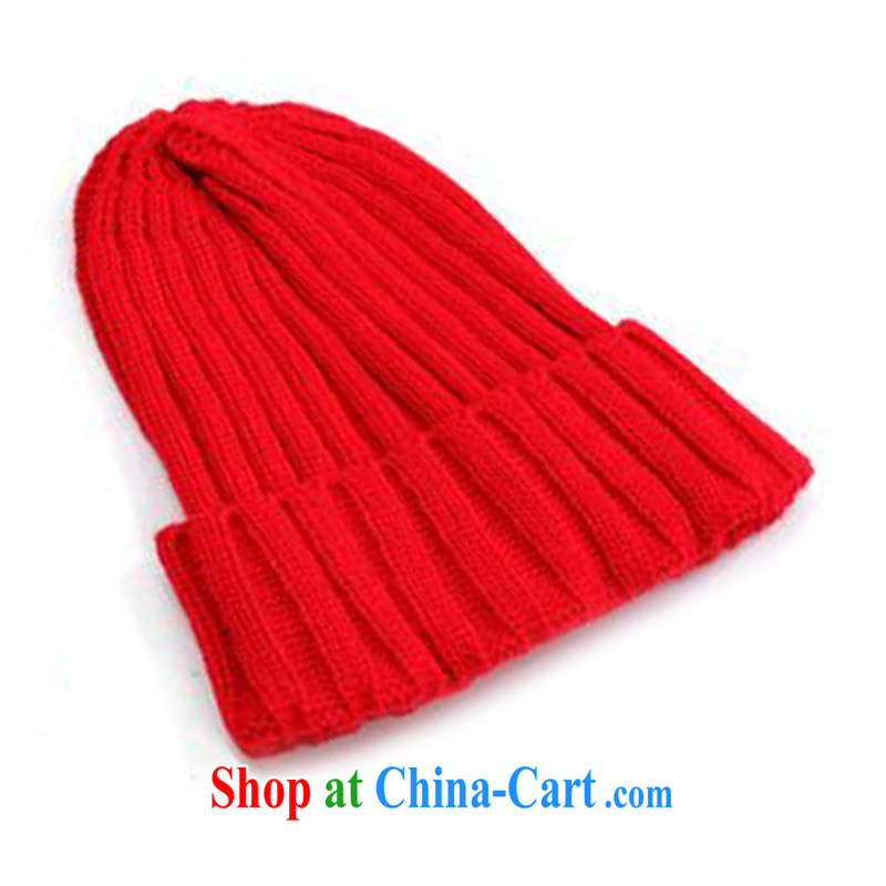 Hung-chun winter new explosions, CAT, the nipple men and women knitting knitting hat candy color - Red