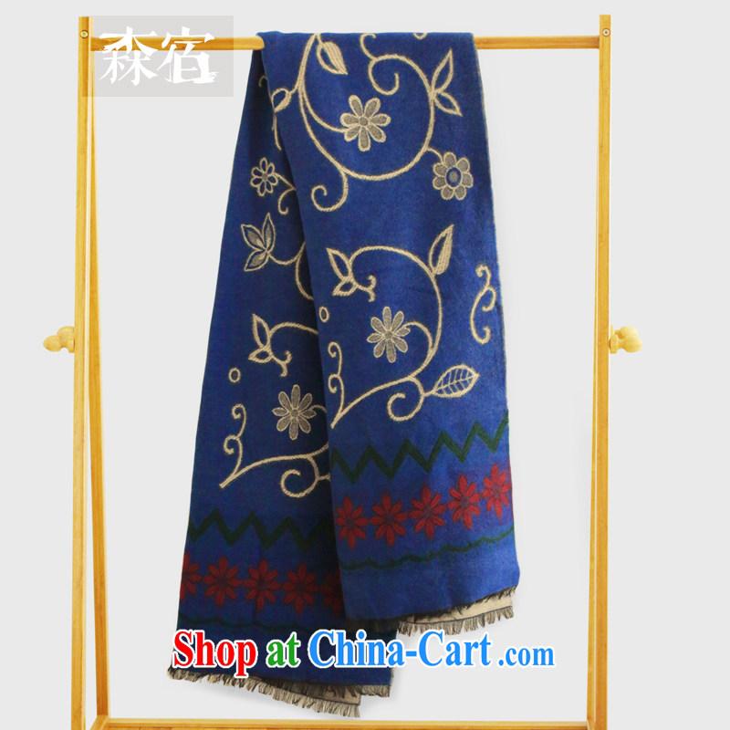 SEN kindergarten places 2014 new winter clothes vines wavy pattern flow, scarves�2443002 dome, blue