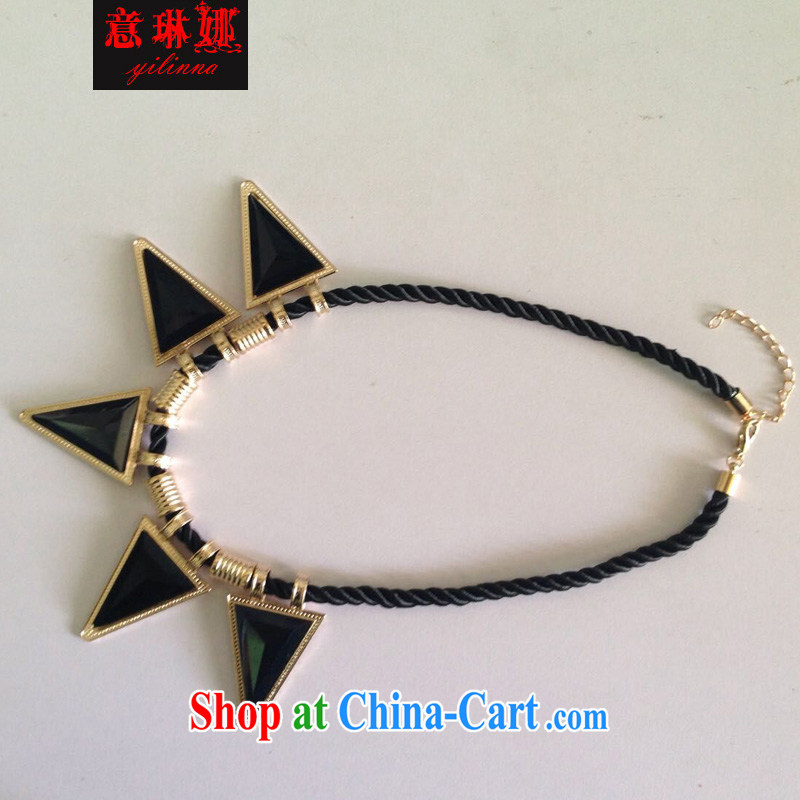to Lin, 2015 new furnishings Korean fashion rimmed 3 100 corner ground clothes necklace 102 black are code