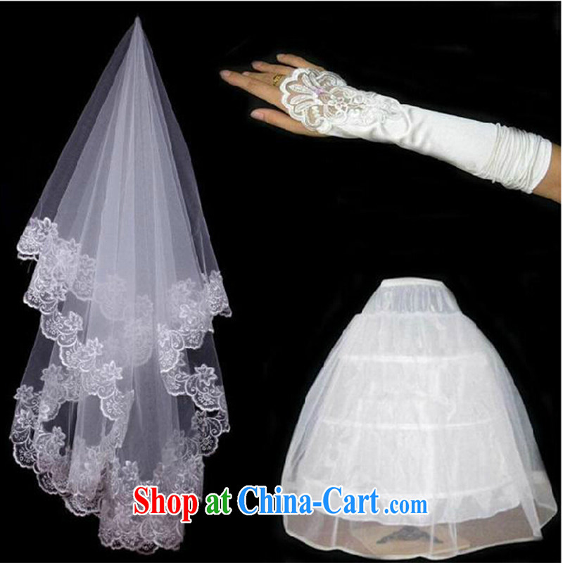 Bridal upscale wedding and yarn 3 piece white wedding gloves skirt stays and legal marriage wedding dresses accessories