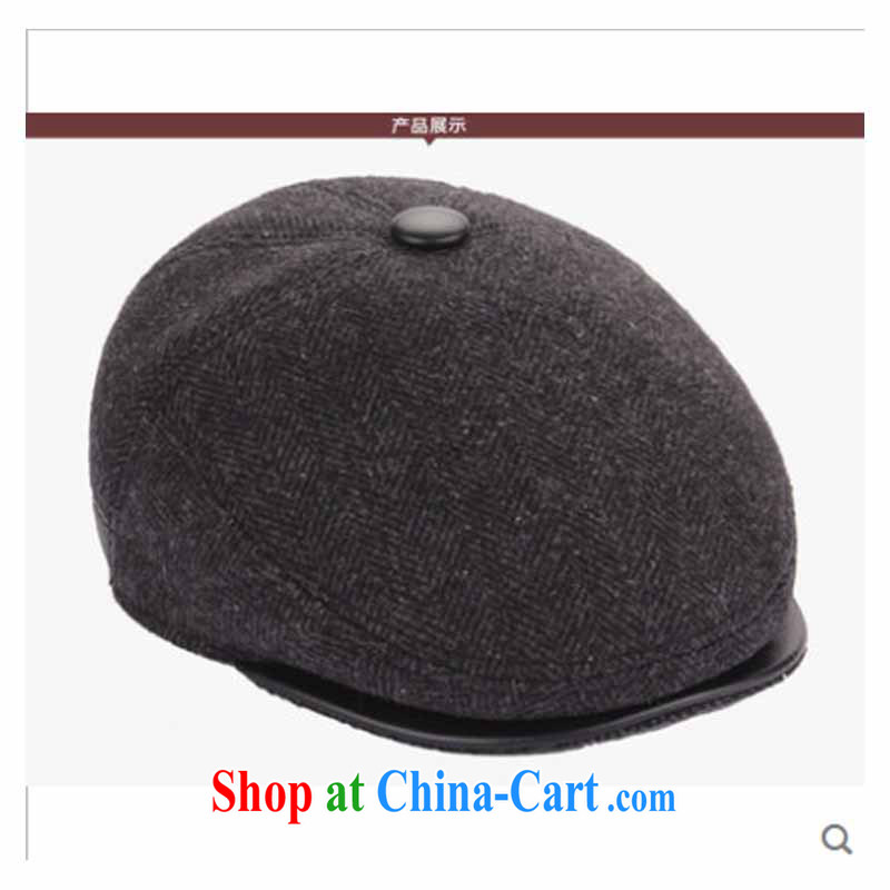 Older persons in hat man in winter old hat men and fall and winter hat winter hat old hat man hat classic dark gray 60 CM