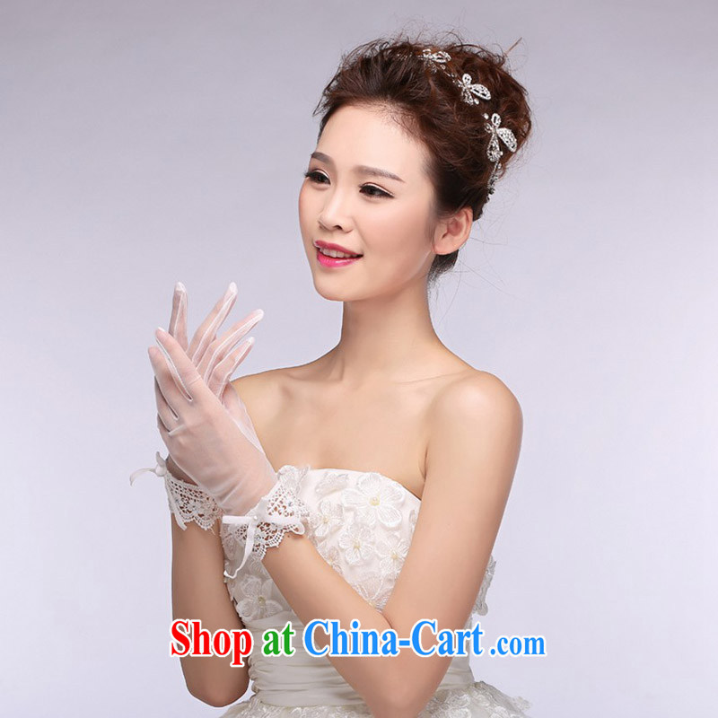 (Quakers, bride wedding dresses accessories Korean bridal wedding gloves short lace bridal wedding dresses gloves accessories, and friends (LANYI), shopping on the Internet