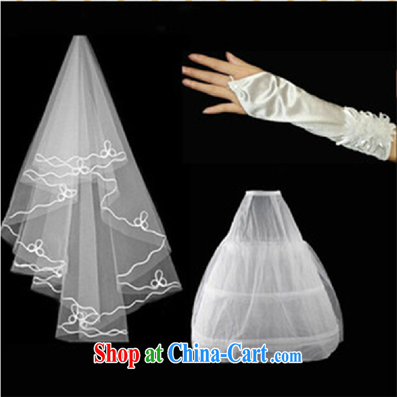 Bridal upscale wedding and yarn 3 piece white wedding gloves skirt stays and legal marriage wedding dresses with white
