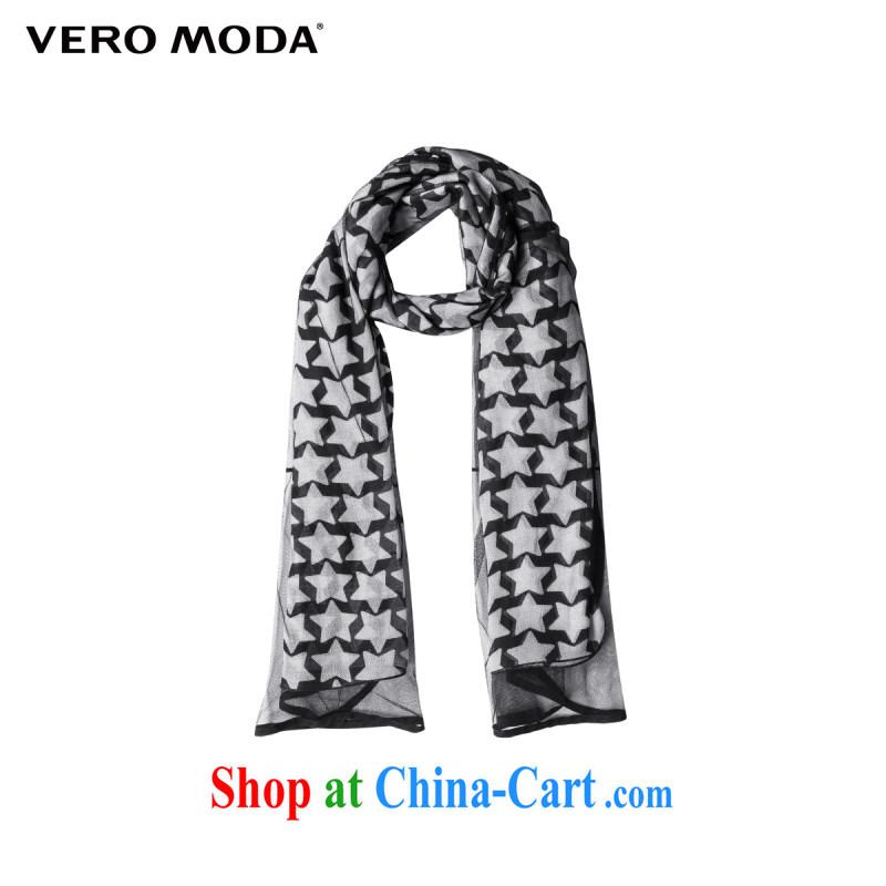 Vero Moda knocked color 5 star fluoroscopy Web yarn stitching female long scarf | 010 315188003 Black Scarf
