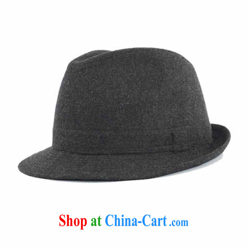 Spring and Autumn and Winter Fashion this hat British older people in outdoor leisure men gift hat black and gray 56 CM