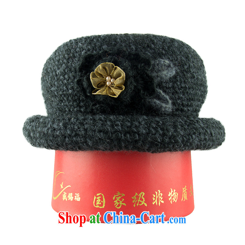shing Tin Fu 2015 autumn and winter in the new, wool blend solid color knitting hat knitting hat black one size (about 57 - 58 cm), Shing-seok, and shopping on the Internet