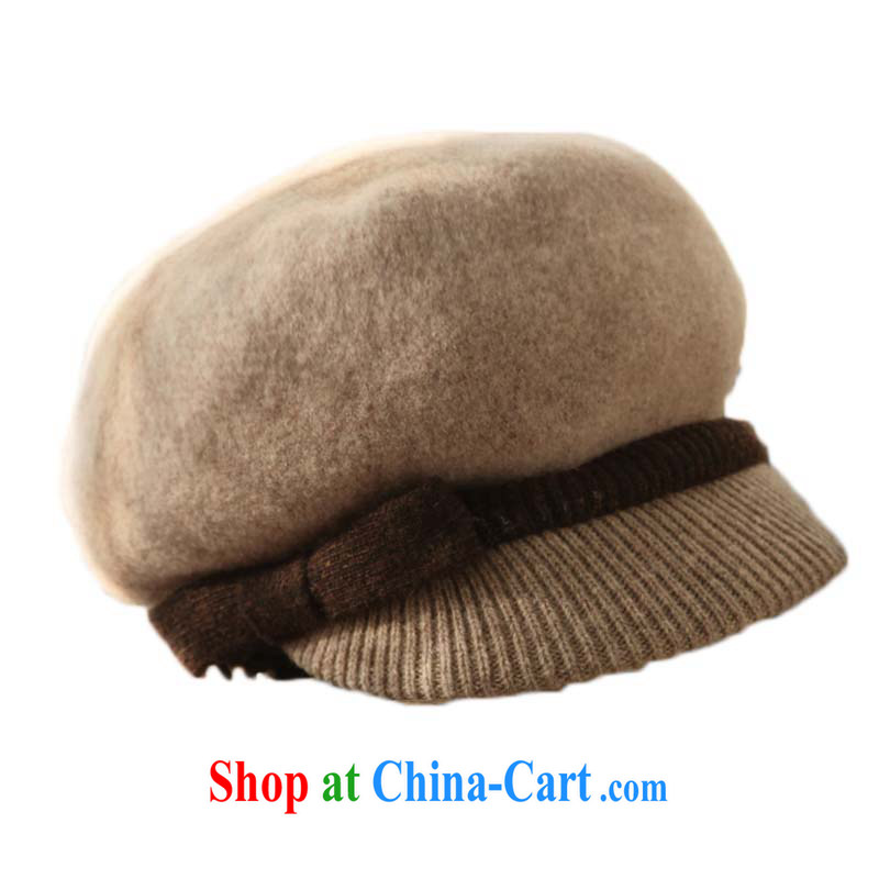 2015 new, autumn and winter 100% wool warm hat wool is a soft short canopies hat MZ 070 dusk - red, red hartebeest Good Morning, shopping on the Internet