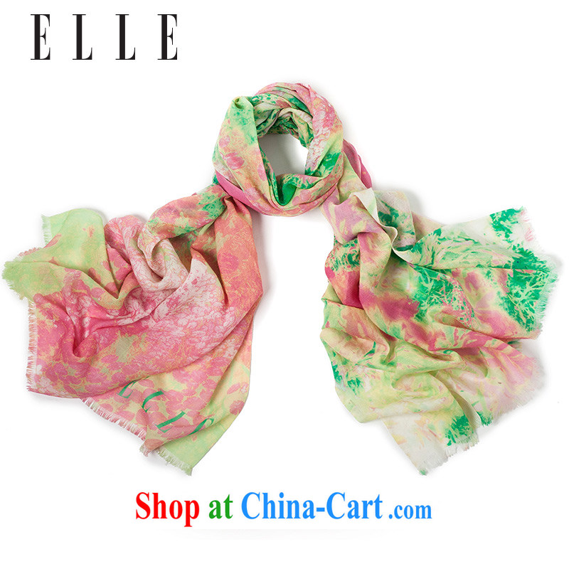 The new Health ELLE spring 2015, stunning countryside silk scarf wool thin mantle pink
