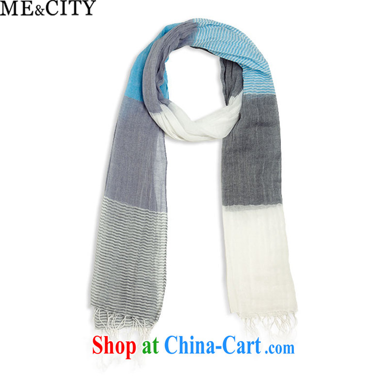 MECITY men and stylish stripes blue scarf hanging 576,165 119 premium light blue are code