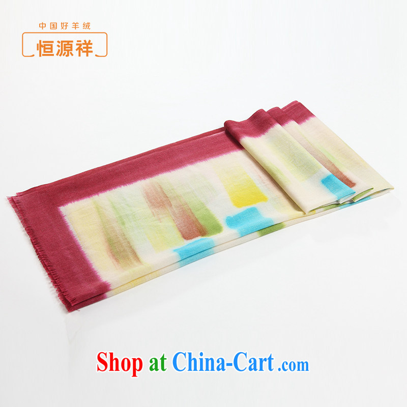 HANG SENG Yuen Cheung-woolen scarves spring 2015 new paintings hand-painted Aircraft Collision color border 100% wool silk scarf shawl yellow color
