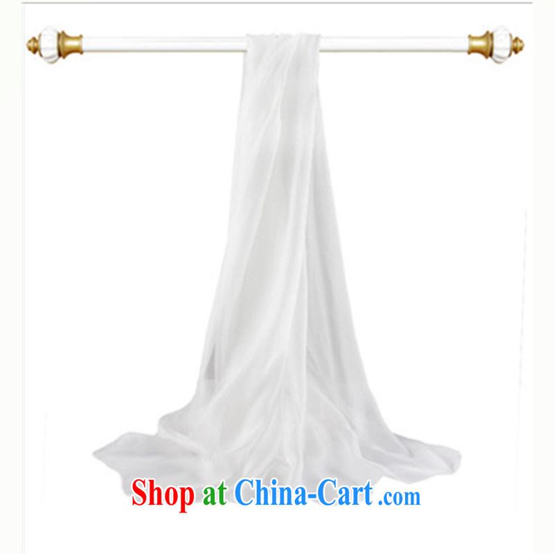solid-colored silk silk scarf upscale 100% sauna silk scarf summer sunscreen Cape beach towels female white