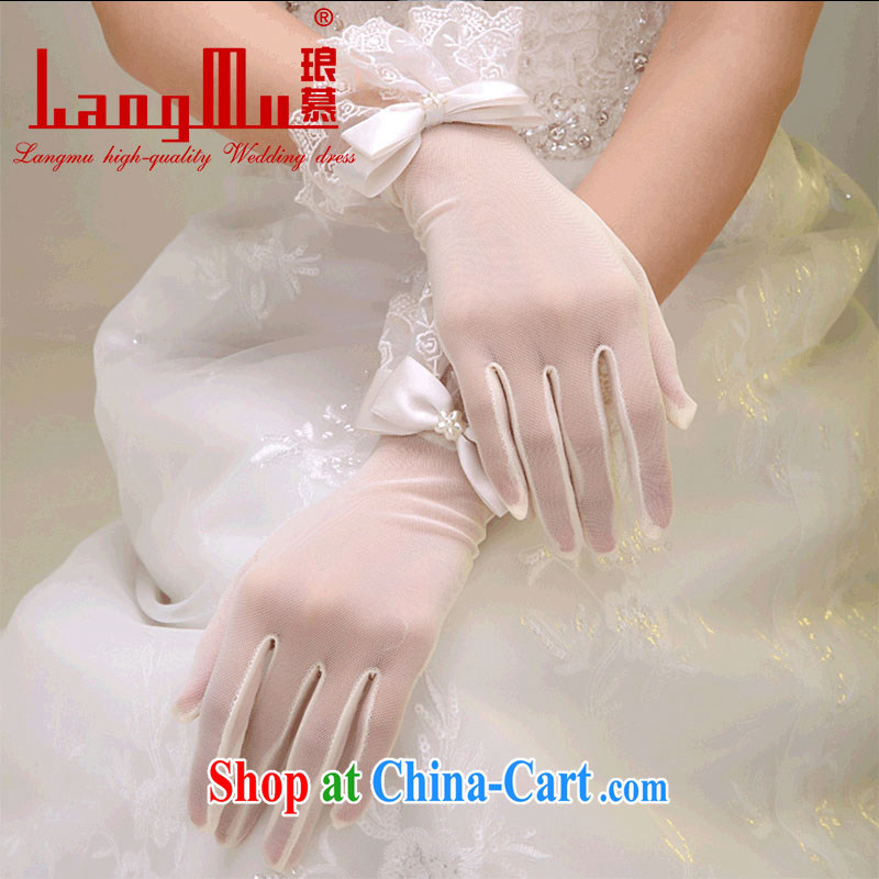 In Luang Prabang in 2015 of new marriages wedding wedding gloves lace lace short white bowtie winter accessories white