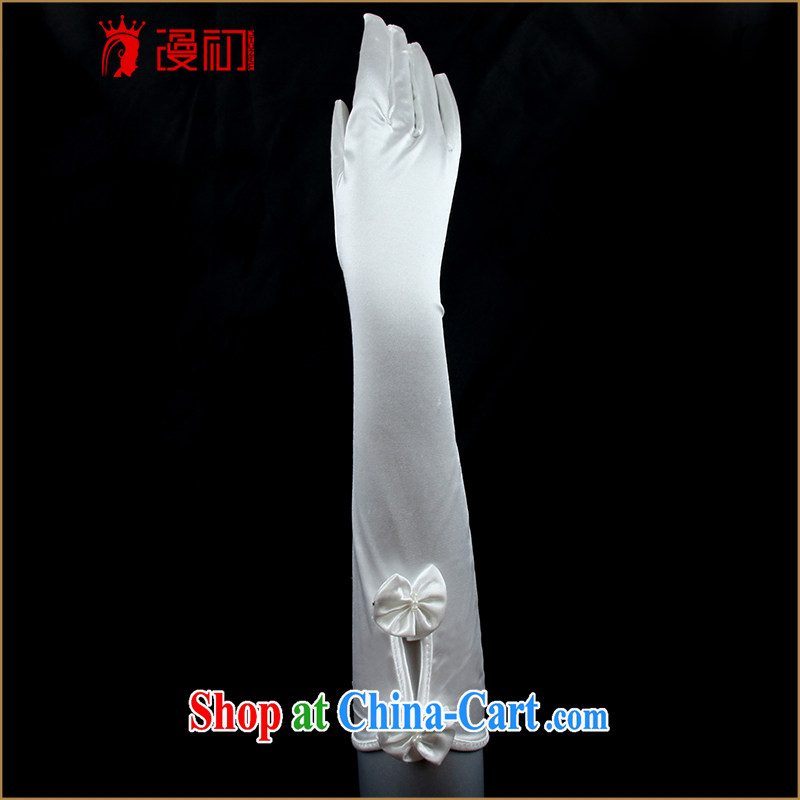 Animated bride early in the gloves 2015 new wedding dresses accessories short bridal gloves white white 4062