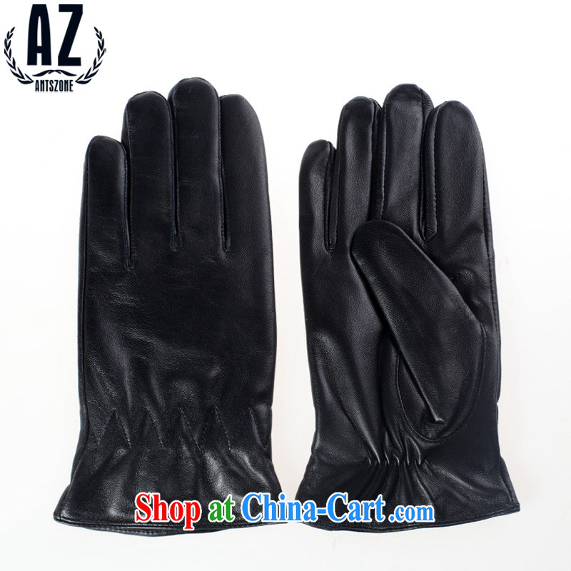 The non-sale -- ANTSZONE I ethnic 2015 men's warm leather gloves black