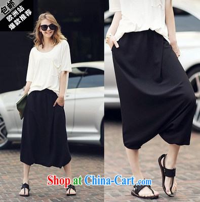 New Leisure short-sleeved large code girl with snow woven Kit stylish european liberal two-piece 8040 white XXL