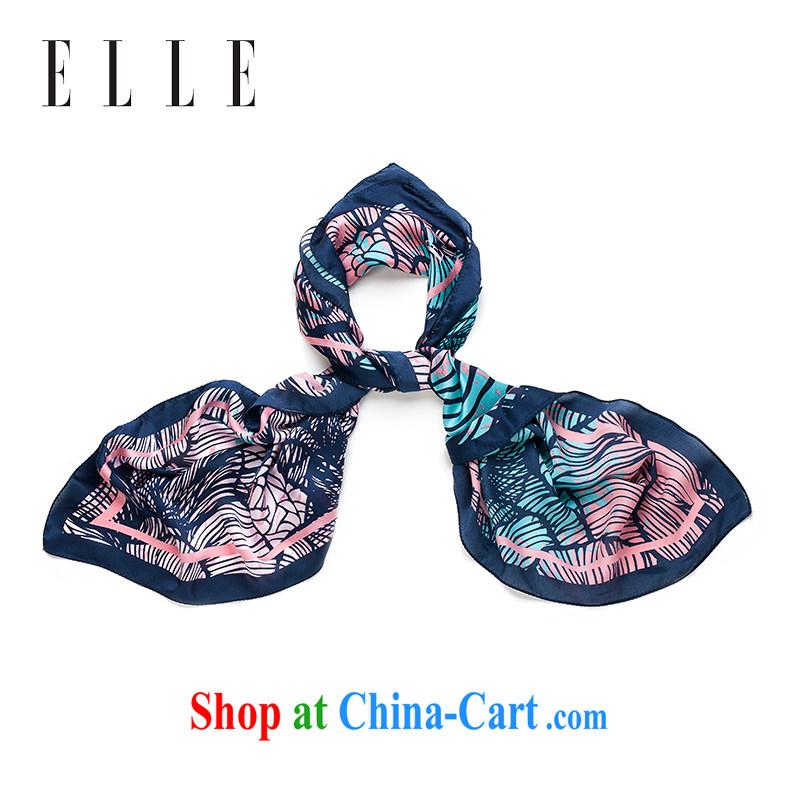 ELLE classy towel sauna Silk Printing, silk scarf silk scarf dark blue