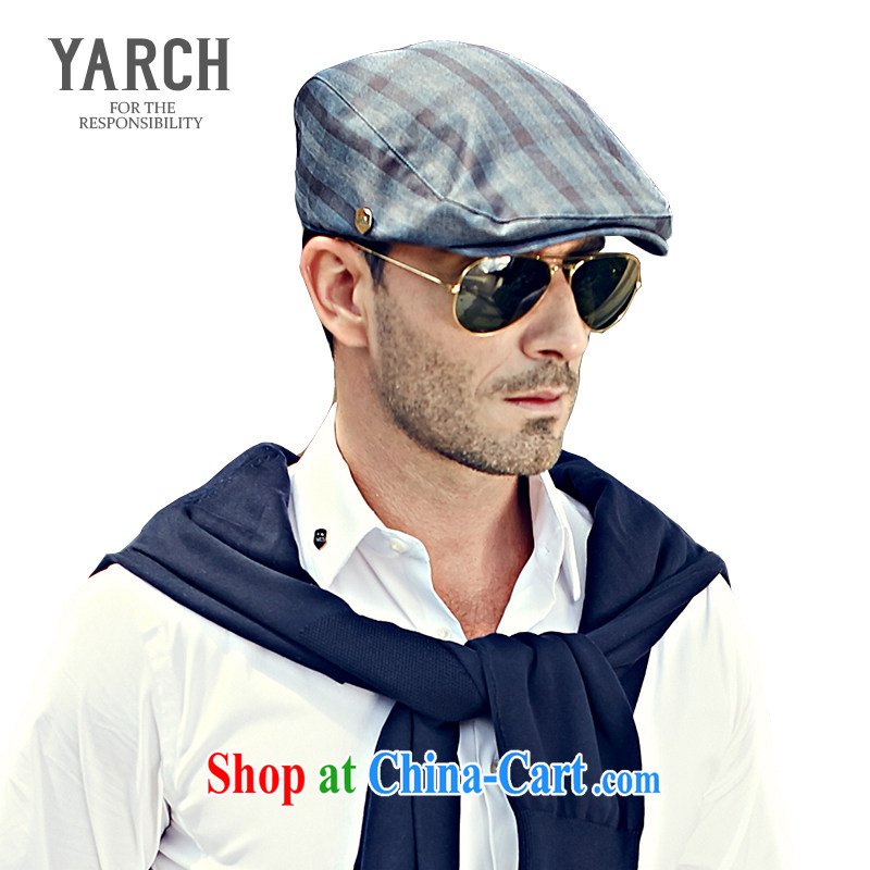 The original policy men's Cape cap spring and summer hat in Europe Leisure Short canopies dome genuine beret painter cap K 008 gray