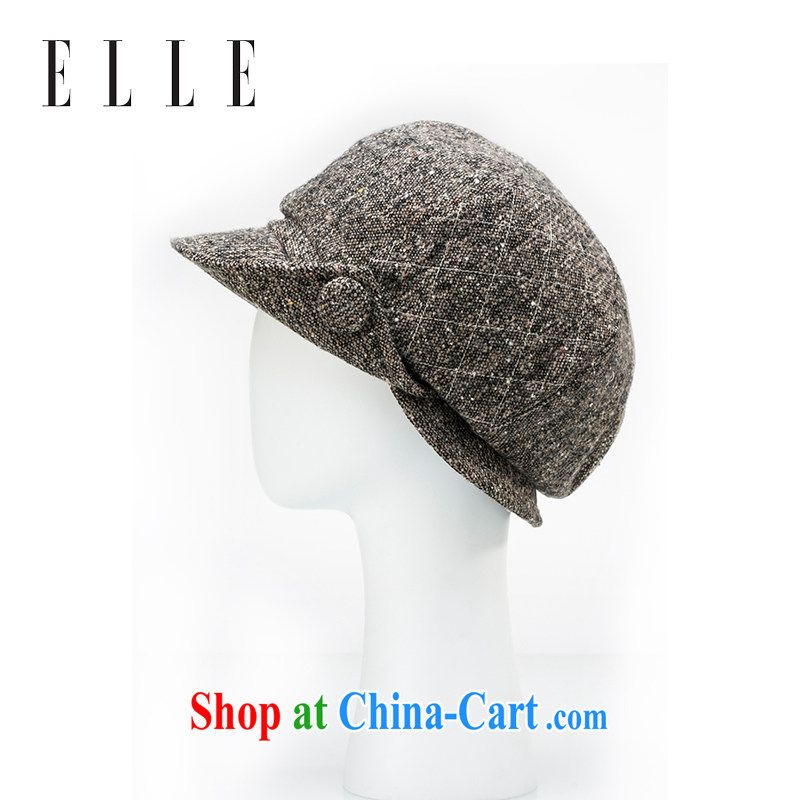 ELLE female cap men and women, leisure winter baseball cap Korean version of the wind hat coffee 65