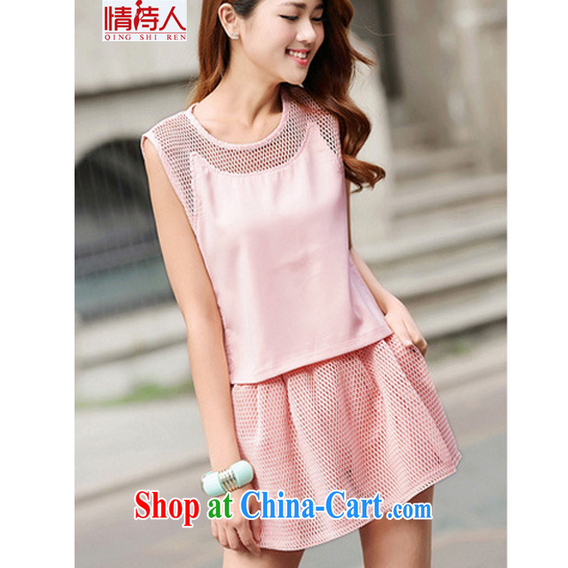 Poet and 2015 new stylish lounge shorts Sport Kits Dress Pants summer female Two-piece G 6039 pink XL