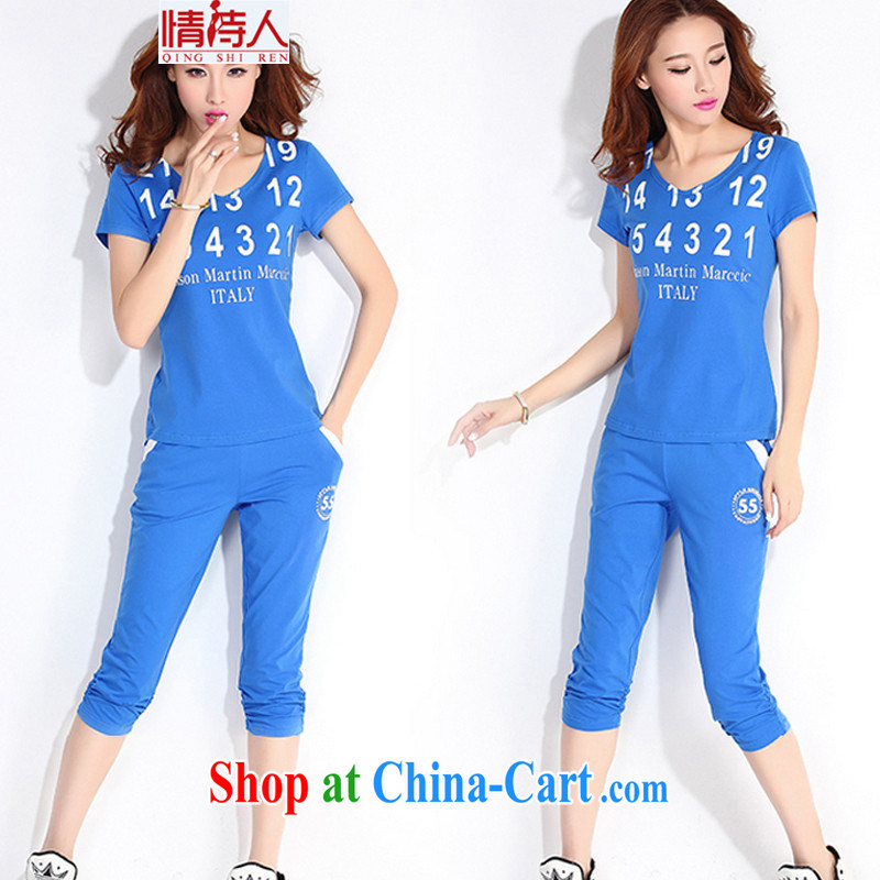 Poet, summer 2015 New Women Campaign Kit V for English letters graphics thin package N 8530 color blue XXL