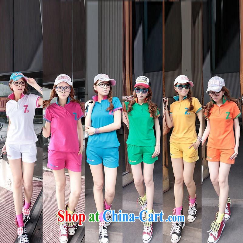 Black butterfly Sport Kits summer Korean Sports _ Leisure package female sports wear sport and leisure suite 5168 green XXL